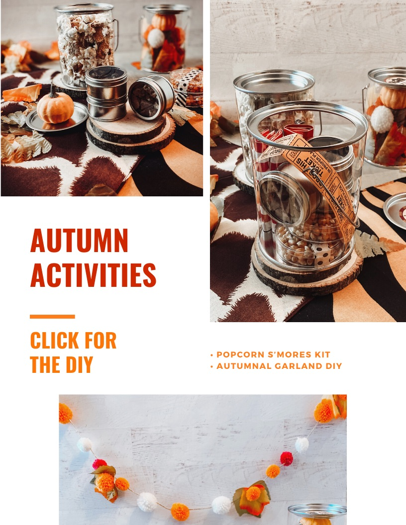Tutorial for autumn garland and smores popcorn