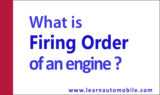 firing order of an engine