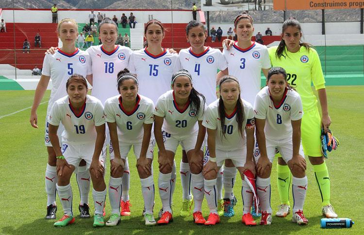 Formación de selección de Chile ante Paraguay, Copa América Femenina 2014, 20 de septiembre