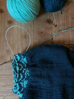 fair isle breien mouw restjes trui