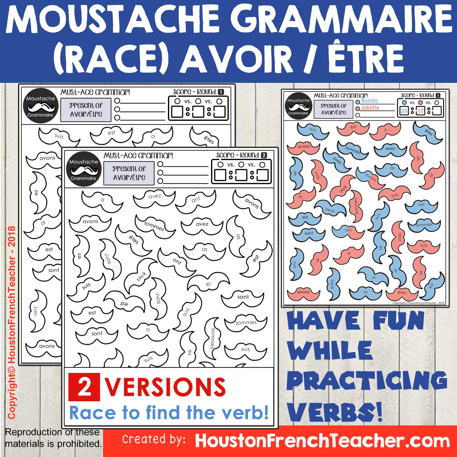 Avoir Etre French Verb Race Game Grammar Conjugation Game