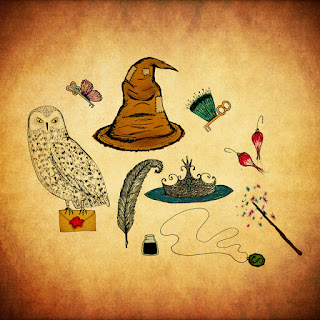 Para hacer invitaciones, tarjetas, marcos de fotos o etiquetas, para imprimir gratis de Harrry Potter.