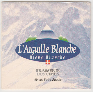 Le sous-bock de l'Aiguille Blanche brassée par la Brasserie des Cimes