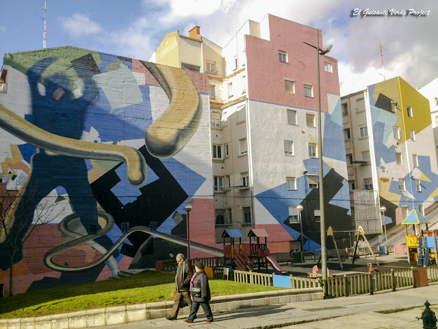 Mural Avda. Kirikiño, DK Muralismo - Bilbao, por El Guisante Verde Project