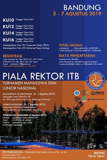 Piala Rektor ITB - Turnamen Tenis Yunior Nasional dan Mahasiswa