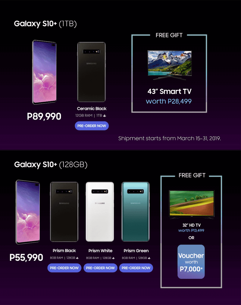 Offers for the Samsung Galaxy S10+