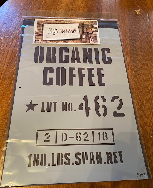 Photo of an organic coffee stencil