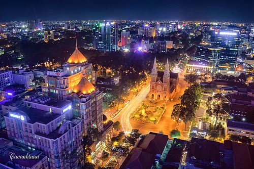 Ho Chi Minh City views from above.