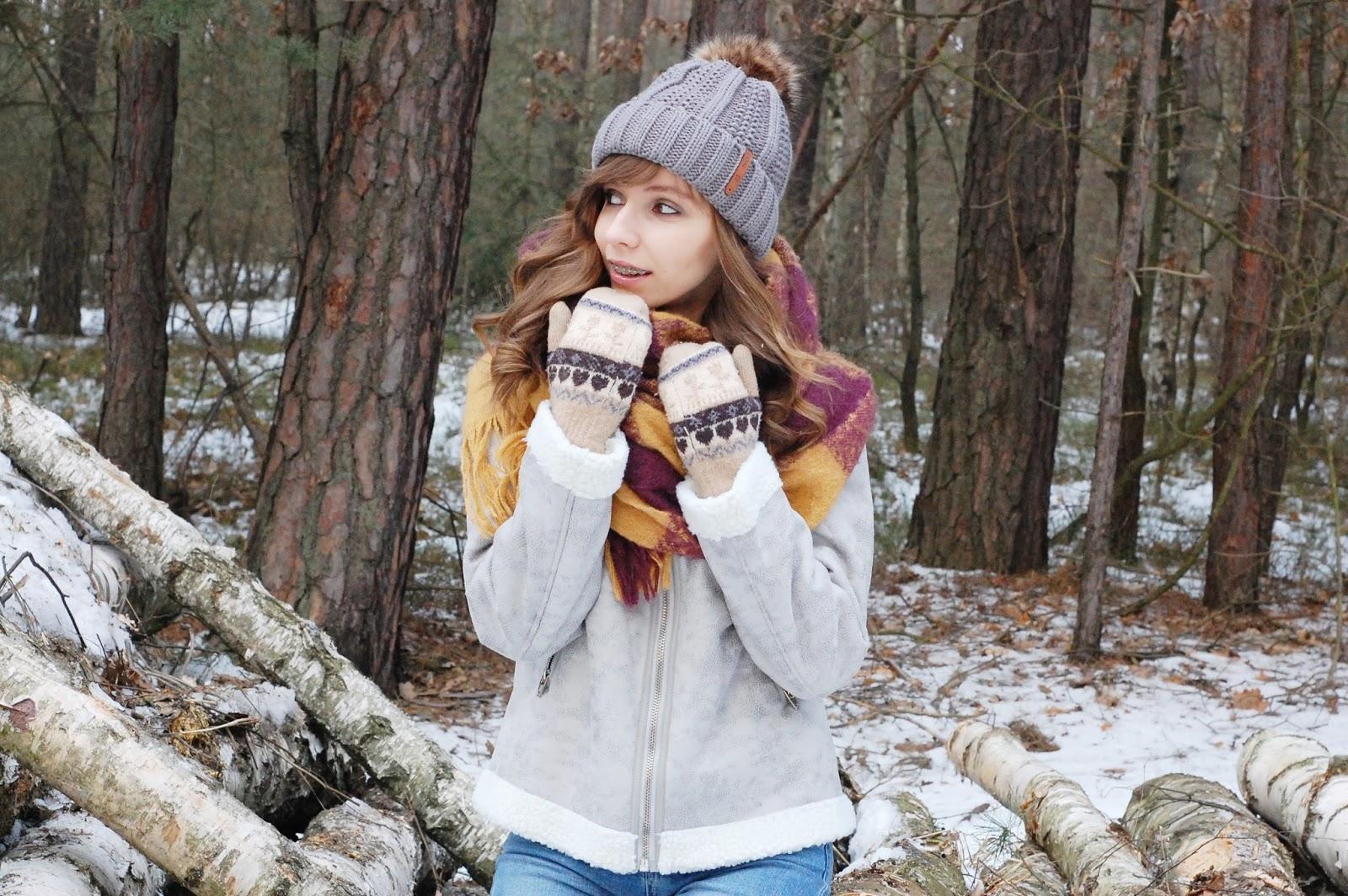 Zimowa stylizacja | sesja w lesie