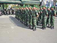 Kodim 0808/Blitar, Minggu Militer Melaksanakan Latihan Baris Berbaris