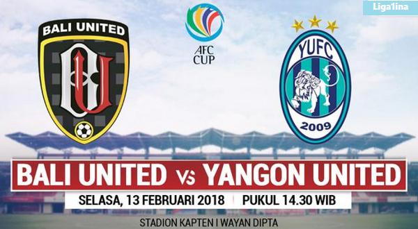 Bali United VS Yangon Uinted