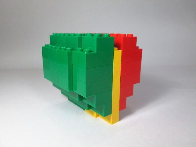coração português em LEGO