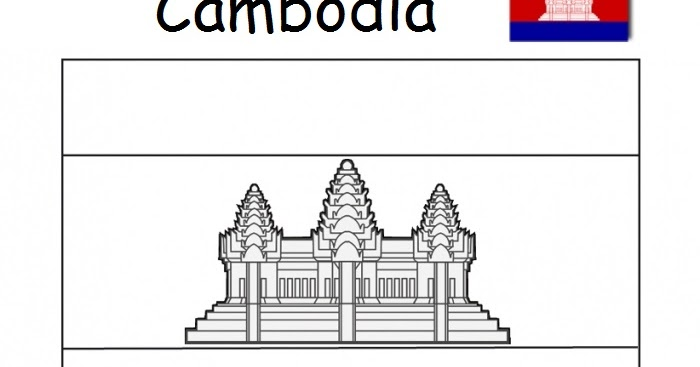 Geography Blog: Flag of Cambodia coloring page