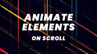 animate element on scroll