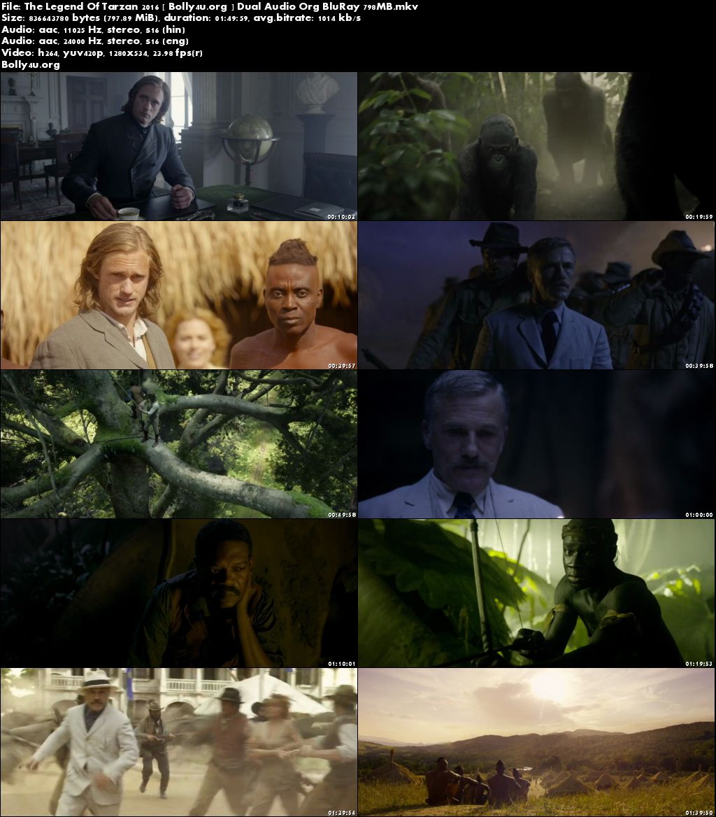 The Legend Of Tarzan 2016 BluRay 800MB Hindi Dual Audio ORG 720p Download