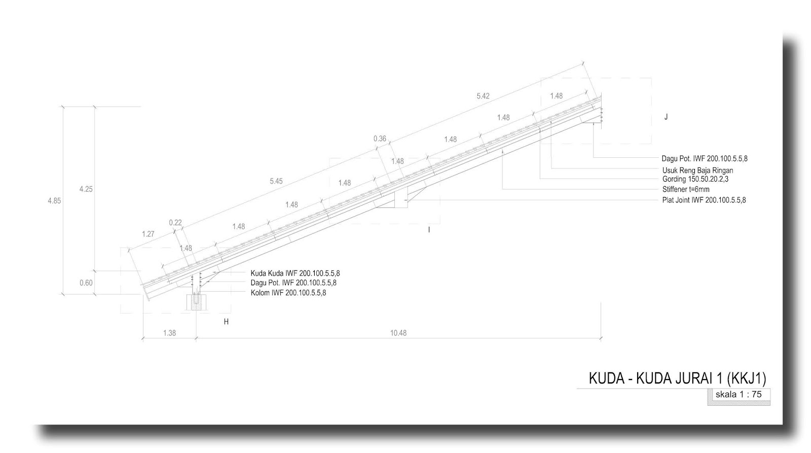 kuda baja ringan bentang 15 m bangunan sederhana home design and ideas