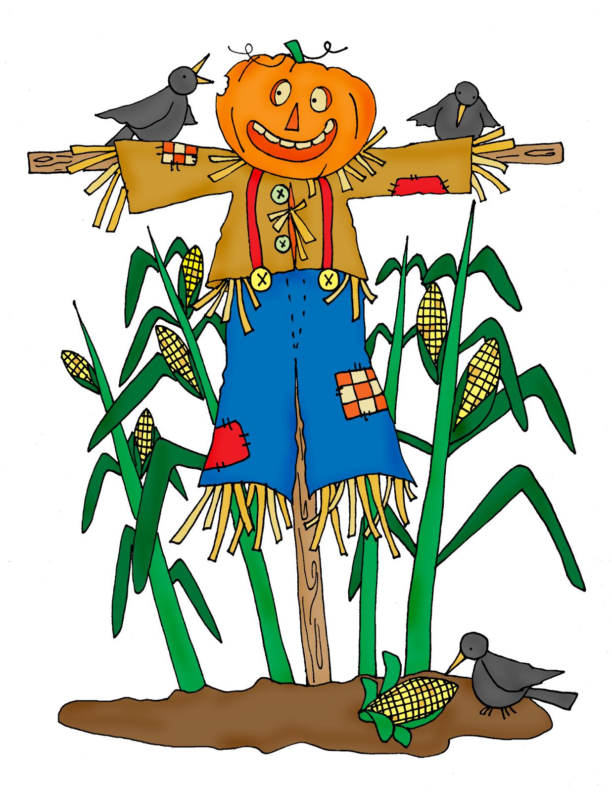 огородное пугало ( чучело) своими руками Corn+Field+Scarecrow-color