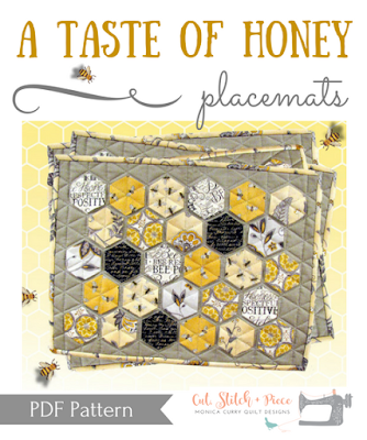 A Taste of Honey Quilted Placemat Pattern