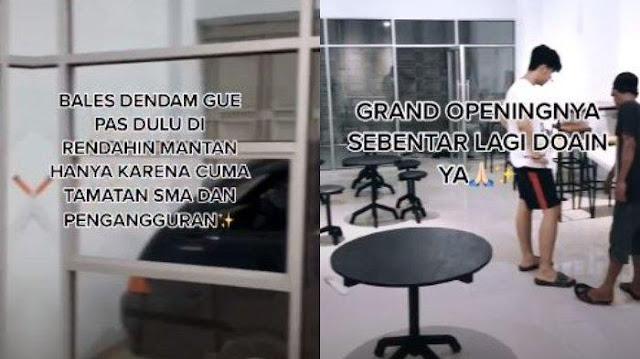 Viral Kisah Pria Diputus Pacar Gara-gara Hanya Lulusan SMA, Kini Sukses Buka Usaha Kafe