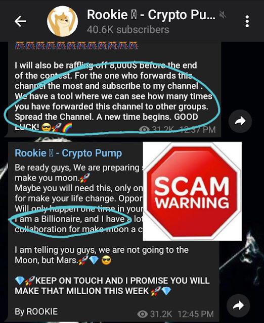 Scam crypto pump server