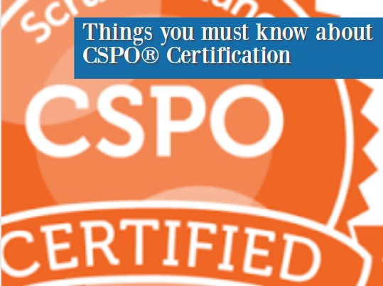 things you must know about CSPO certification