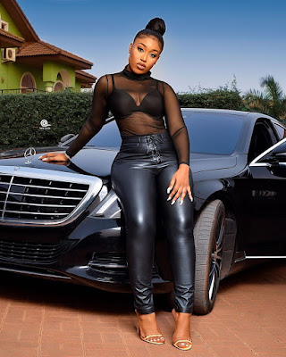 """Fantana flaunts her new Benz S Class on Instagram saying: """"she is taking over the music industry"""" this 2020"""