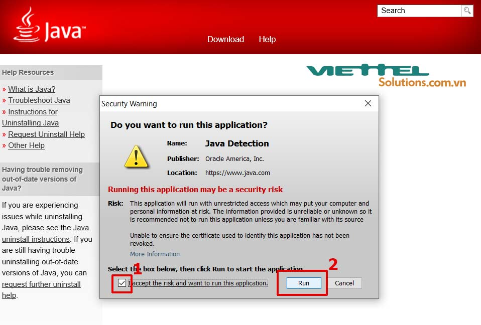 Hình 8 - Run Java Detection application