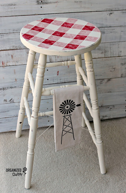 Upcycled, Repurposed and Stenciled Stools