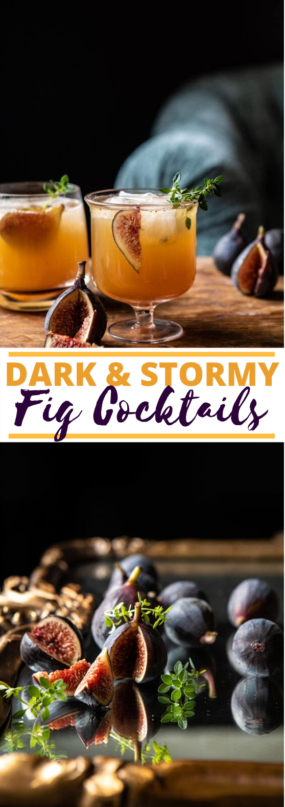 Fig Dark and Stormy #drinks #alcohol #fall #cocktails #rum