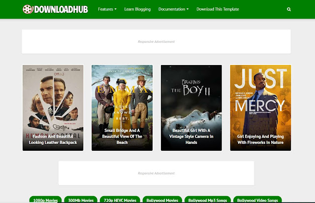 download hub blogger video template