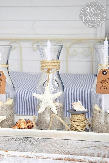 DIY-Deko mit Kerzen für den Sommer
