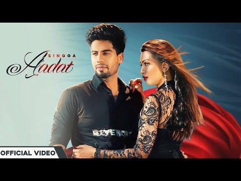 New Punjabi Song Aadat |  Singga | Mp4 Video | Lyrics
