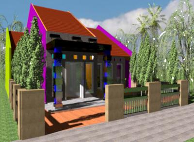 berbagi contoh desain rumah: rumah minimalis 2 kamar tidur