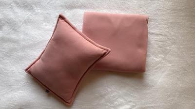 Bộ chăn gối cho dân văn phòng màu hồng phấn