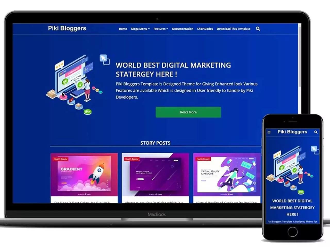 Piki Bloggers - Blogging Bloggers Templates