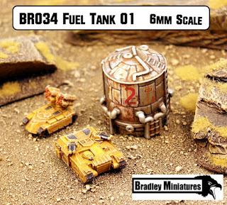 Fuel Tank 01 6mm new at Bradley Miniatures
