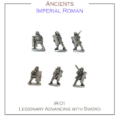 IR-01 Legionary Advancing with Sword - Single Figures - (32 Singles figures + 4 bases)