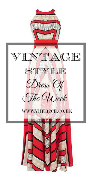 Vintage Inspired Dress of the week - halter neck maxi 1930s 1970s style
