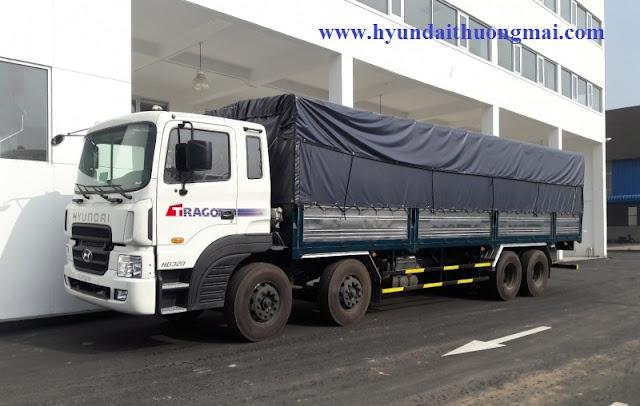 Hyundai HD320 thùng mui phủ bạt