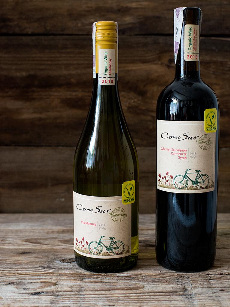 weganskie organiczne wino