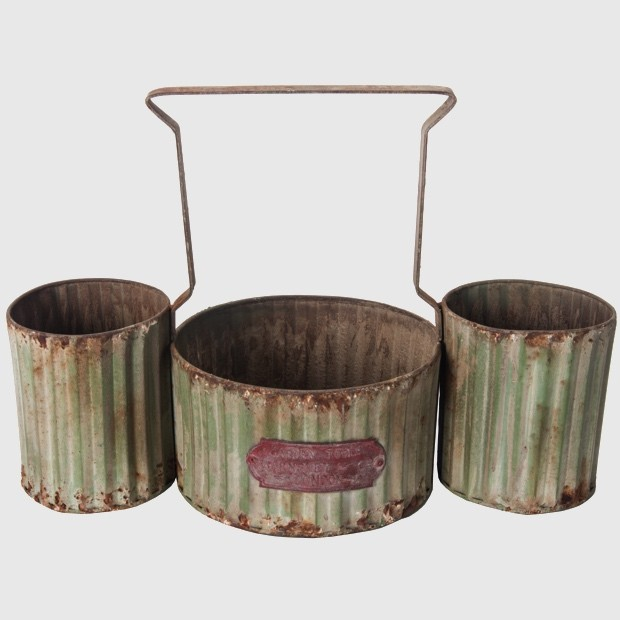 Vintage and antique style gift ideas under 50 redo it for Rustic galvanized buckets