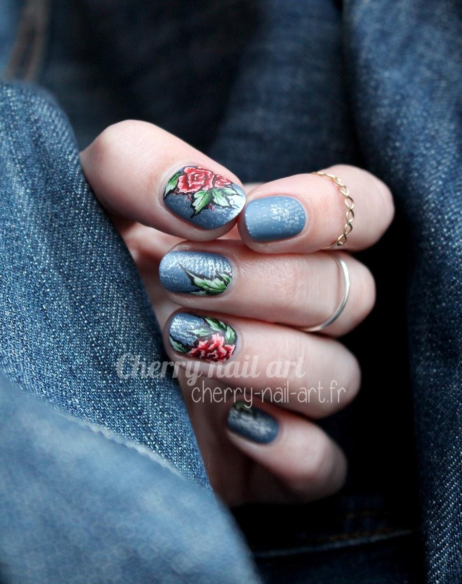 nail-art-jeans-denim-broderie-rose