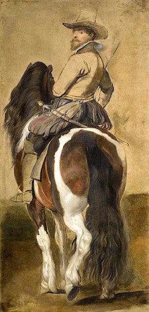 Peter Paul Rubens (1577-1640) - Etude de Cheval et de Cavalier, dessin, aquarelle,
