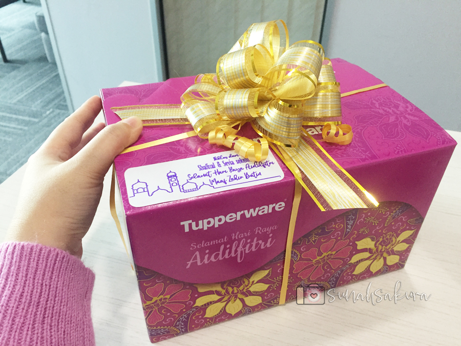 Kotak Tupperware Raya Gift Set Kaler Purple