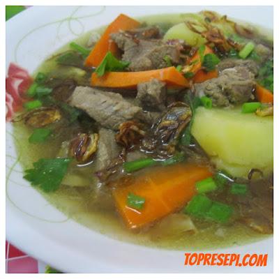 Resepi Sup Daging Yang Mudah dan Sedap