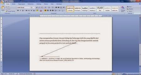 Catatan kaki di MS Word