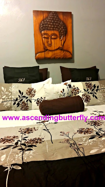 Buddha Wall Art, Bedding Set, Curtains, Macys, Hayneedle, Cost Plus World Market, Bedroom, Interior Decorating, Interior Design