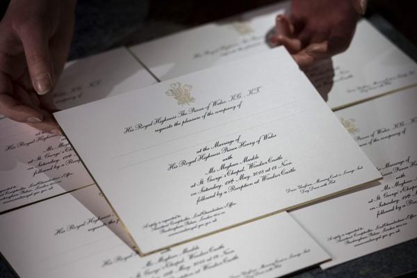Faça Seu Convite Inspirado no Convite Real - Príncipe Harry e Meghan Markle