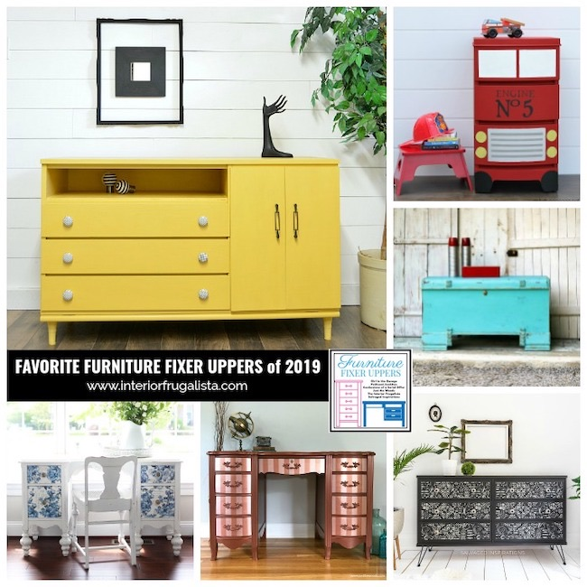 12 Favorite Furniture Fixer Uppers of 2019 by Interior Frugalista featured at Pieced Pastimes