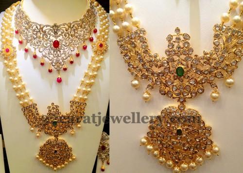 Pachi Rani Haram With Huge Locket Jewellery Designs